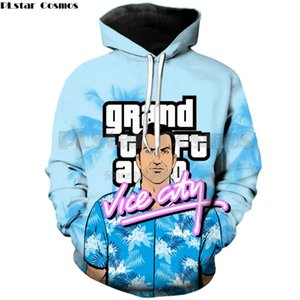 Wholesale New Fashion Mens Hoodies game Grand Theft Auto Vice City Print d Men Women Casual Hooded Sweatshirt