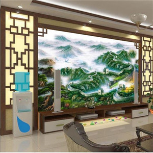 autocollants papier peint chinois achat en gros de-news_sitemap_homeTaille personnalisée Photo D Sticker Salon Fond d écran Wall Wall Wall Chinese Grand The Wallpaper Image Style Sofa TV Mural D Non tissé Backd VVXL