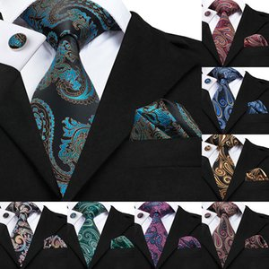Wholesale Luxury Floral Paisley Mens Blue Red Tie Gravata Pour Homme Male Silk Ties For Men Business Wedding Necktie cm Wide SN