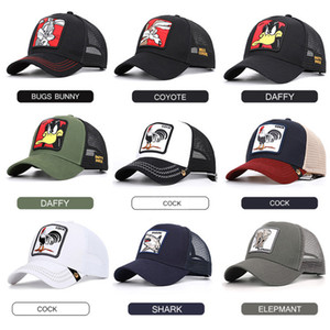 Wholesale Summer Mesh Baseball Caps Animal Duck Anime Cute Rabbit Embroidery for Women Men Outdoor Dad Truck Driver Hat Summer gorras