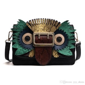 Wholesale bag owl style resale online - 2019 new style Fashion designer women Owl Bags Shoulder Bag luxury Cross Body Flap handbags Clutch bag totes mixed color bags1
