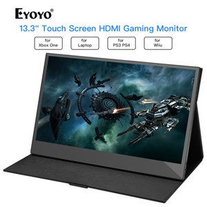 Wholesale Eyoyo quot EM13K LCD Portable x1080 IPS Gaming Monitor compatible for Game Consoles computer USB PC Screen hdmi display
