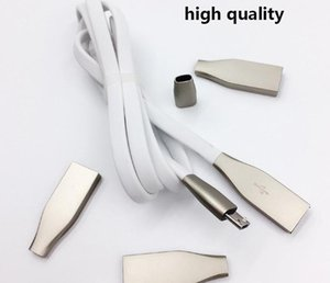 Wholesale Micro USB Cables M ft A Fast Charger Zinc Alloy Metal Connector USB Sync Data Cable for Android And Phone