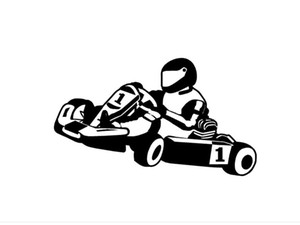 Wholesale stickers for racing decal for sale - Group buy Wall Decal Wall Stickers For Kids Rooms Modern TOITY GO KART KARTING RACING Wall Room Decor Art Vinyl