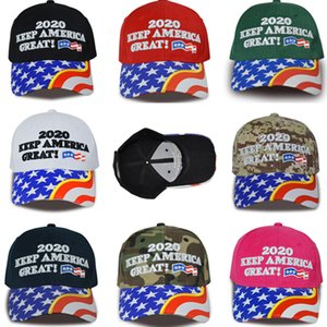 Trump 2020 Baseball Cap Make America Great Again 2020 Election Hat Embroidery Letter Ball Hats US Flag Bill Caps Travel Beach Visors C9204