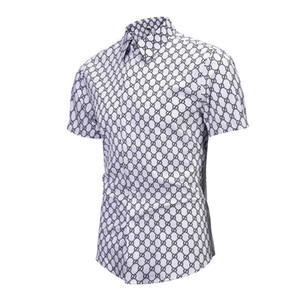d4bcd321111 European New Pattern Customized Lattice Short Sleeve Male Young Cotton  Blend Fashion Mens Shirts on Sale