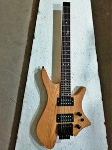 op quality FDHL-013 original color solid Ash body rosewood fretboard headless electric guitar , Free shipping