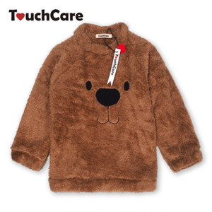 Wholesale louse sheer Newborn Winter Warm Thick Fleece Baby Sweaters Infant Cute Cartoon Animal Bear Kids Pullover Long Sleeve T shirts Toddler Blo
