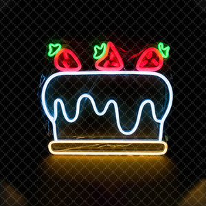 Wholesale Strawberry Cake Sign LED Neon Lights Cute Style Girl s Room Decoration Bar Commercial RestaurantPublic Places V Super Bright