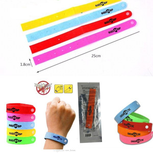 Wholesale Summer Mosquito Repellent Bracelet Anti mosquito Wrisband Insect Repellent Ring Colorful Personal Protection Mosquito Bugs Lock Wristband