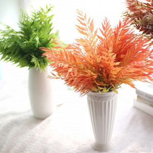 Wholesale 1PCS Wall Vine Artificial Succulent Plants Fake Flower Leave Aquatic Grass Wedding Home Decoration Real Touch Maple Fern leaf