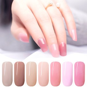 KADS 7ML Nail Polish Glue Varnish Lacquer Base Top Coat UV LED Lamp Soak Off Nail Art Manicure Semi Permanent Pure Color Healthy on Sale