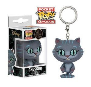 Wholesale 286 Funko POP Cheshire cat Alice in Wonderland keychain Anime Figures Christmas Gifts Toys Birthdays Gifts Doll New Arrvial