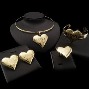 Yulaili Warm Heart Design Hot Trendy Between Lovers in Engagement Four Jewelry Sets Full of Romantic Feelings Free Gift Box