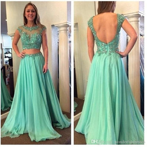 Wholesale Mother Of The Bride Dresses 2017 New Arrival Evening Gown Sexy Backless Luxury Beaded Green Long Party Dress Vestido Longo