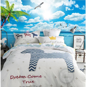Wholesale beach wallpaper for walls resale online - 3d wallpaper custom photo Blue sky white clouds beach seascape background living room Home decor d wall murals wallpaper for walls d