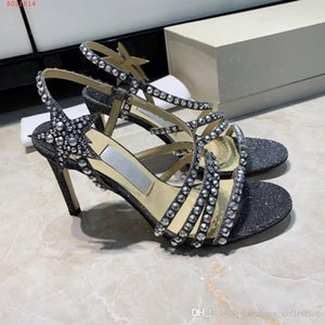 Wholesale Women High Heels Dressing Shoes Stylish high heeled sandals with rhinestones and stars