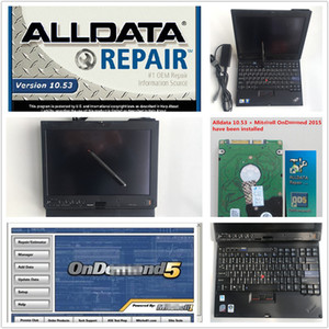 newest auto repair soft-ware alldata 10.53 and mitch*ll cars trucks with x200t 4g 9300 installed in laptop touch screen dhl fast