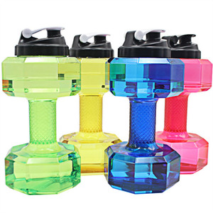 Wholesale dumbbell water bottle for sale - Group buy 2 L Outdoor Gym Dumbbell Kettle Dumbbells Fitness Water Bottle Outdoor Fitness Bicycle Bike Camping Outdoor Water Bottle WX9