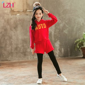 Wholesale teens girls clothes for sale - Group buy LZH Fashion Autumn Winter Kids Girls Clothes Sportswear Hooded Pants Outfit Suit Teens Girls Clothing Set Year