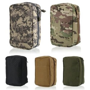 Wholesale Waterproof Nylon Tactical Molle System Waist Bag Medical Military First Aid Pouch Storage Pockets Portable Mountaineering Bag LJJZ494