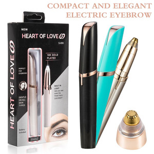 Wholesale Lipstick Eye Brows Hair Remover Micro Precision Gold Plated Remover Epilator Eyebrow Trimmer Shaving Machine Razor Mini Electric Shaver