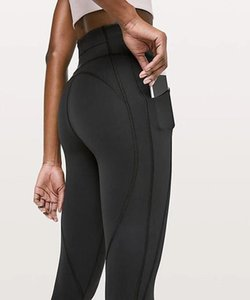 Wholesale 109 Lulu Time To Sweat Crop gym NWT woman capris stretch fabric tummy control pant sexy power flex yoga tight