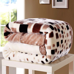 lits simples achat en gros de-news_sitemap_homeDouce Hiver Couette Couverture Pour Lit Imprimé Raschel Vison Throw Twin Queen Taille Simple Double Lit Fluffy Chaud Graisse Épaisse Couvertures