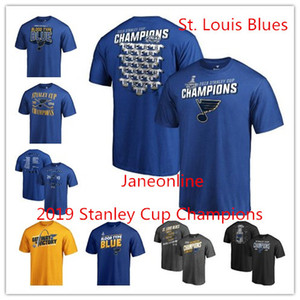St. Louis Blues 2019 Stanley Cup Champions t-shirts men's designer shirts short sleeves hockey jersey Print Logos on Sale