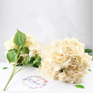 Wholesale Wedding Arrangement Hydrangea Living Room Decoration Artificial Flower Simulation Bouquet Fake Flower Six Big Head Hydrangea