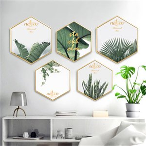 Nordic Style hexagon self-adhesive wall stickers decorative painting for living room home decoration on Sale