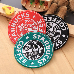 60pcs Table Decoration Silicone Coasters Cup Thermo Cushion Holder Starbucks sea-maid Coffee Coasters Cup Mat 85mm Diameter Coffee Mats