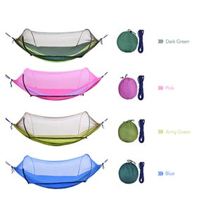 Wholesale Portable Mosquito Net Outdoor Camping Hammock with Mesh Mosquito Bug Net Hanging Swing Sleeping Bed Tree Tent Drop Shipping