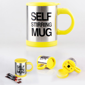 Wholesale customized coffee mugs for sale - Group buy 400ml Mug Automatic Electric Lazy Self Stirring Mug Cup Coffee Milk Mixing Mug Smart Stainless Steel Mix Cup Drinkware Customized DBC VT0991