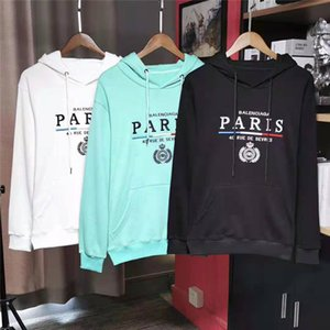 Wholesale Europe Blurred Paris Sweatshirts Hoodies Mens Designer Hoodies Street Hip Hop High Quality Loose Fit Womens Hoodie Mens Designer Sweaters