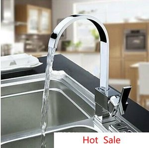 Wholesale New Hot Sale Solid Chrome Multi Function Swivel Spout Kitchen Sinks Faucet Mixer Tap Double Sinks