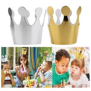 Wholesale 3Pcs Kids Adult Birthday Hats Cap Crown Prince Princess Party Decoration Paper