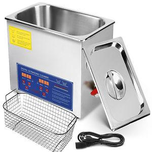 2020 Arrival Brand New 6 Liter Stainless Steel Digital Ultrasonic Cleaner with Bracket and Drainage System