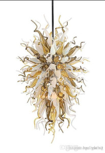 Wholesale sale blow glass for sale - Group buy 100 Handmade Blown Glass Chandelier with LED Light Source Home Decor Modern Art Deco Customized Italian Glass Chandelier for Sale