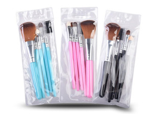 Hot 5pcs Travel Portable Mini Eye Makeup Brushes Set for Eyeshadow Eyeliner Eyebrow Lip brues Make Up Brushes kit Professional tools