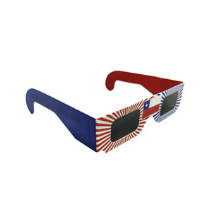 Wholesale 100pcs D Paper Safe Solar Glasses Safe Solar Eclipse Viewing Glasses factory direct Cheap price