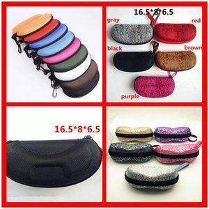 Wholesale 2018 Hot Zipper Eye Glasses Sunglasses Hard Case Cover Bag Storage Box Portable Protector Black High Quality