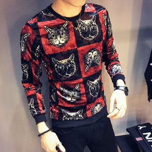 2019 Fashion Sweater Mens Sweater Long-sleeved Round Neck Mens New Fashion Mens Designer Sweater on Sale