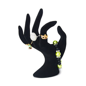 wholesale 100% new acrylic ring display jewelry display OK hand shape dislay black on Sale