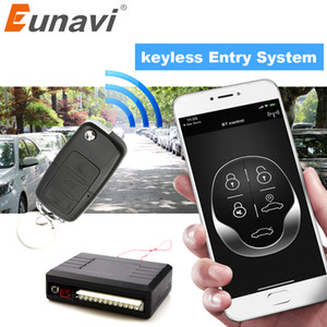 Wholesale Eunavi Universal Car alarm system Auto Door Remote Central Control Lock Locking Keyless LED Keychain Central Kit Door Lock bt