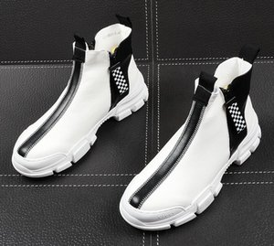 Mens Designer Shoes Men's casual shoes Korean version of the board shoes, high collar thick sole small white shoes Designer Sapatilha lf101