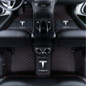 Wholesale Tesla MODEL-S2016-2018 Armrest box with cup holder on the back side Car mat before and after pad waterproof pad