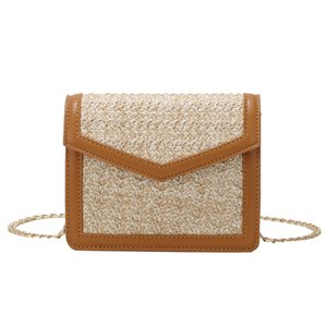 Wholesale Xiniu Women Beach Color Matching Woven Bag Burlap Square Bag Messenger Trendy luxury Bolsa de ombro das mulheres Hot