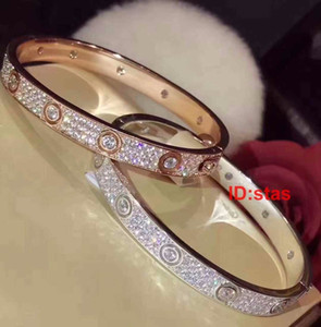 Top Quality All Over The Sky Star Diamond Silver Luxury Designer Women Party Gift Bracelet Mens Bangle Jewelry Bracelets Bracelet