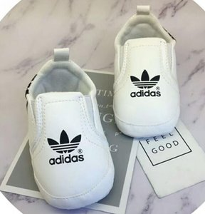 Baby Shoes Pu Leather Sports Sneakers Newborn Baby Boys Girls Stripe Pattern Shoes Infant Toddler Soft Anti-slip Shoes